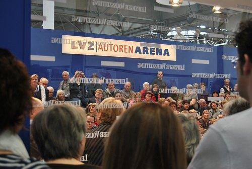 Autorenforum der Leipziger Volkszeitung LVZ während der Leipziger Buchmesse 2012.