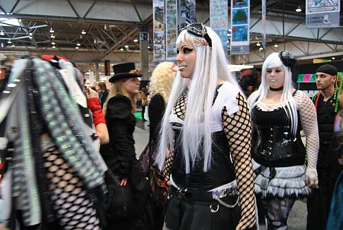 Mangagirls auf der Buchmesse in Leipzig.