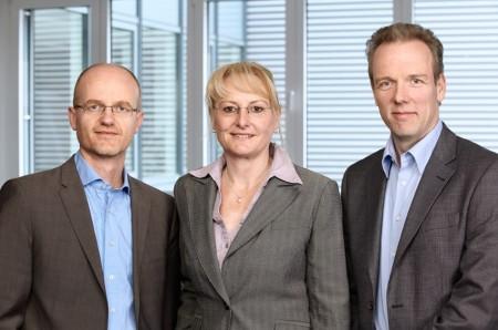 Das neue Vorstandsteam von Greenpeace Energy: Dr. Steffen Welzmiller, Susanne Grabler und Jörg Rohwedder © Enver Hirsch / Greenpeace Energy eG