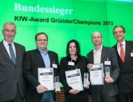 Unternehmenswettbewerb KfW-Award GründerChampions 2013