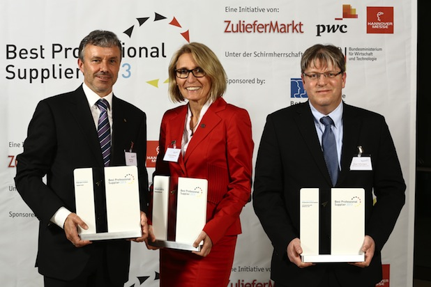 """Bild von Sieger des """"Best Professional Supplier-Award 2013"""" stehen fest"""
