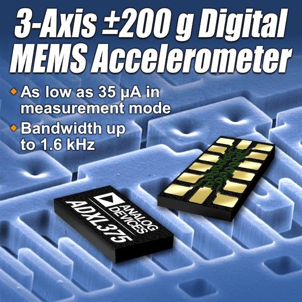 Bild von 3-Achsen MEMS-Beschleunigungssensor für hohe g-Werte