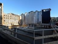 Staffelübergabe auf der Baustelle der Bremer Landesbank