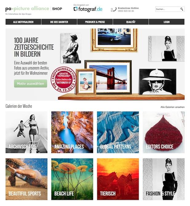 Bild von Neuer Online-Shop für hochwertige Großformat-Drucke