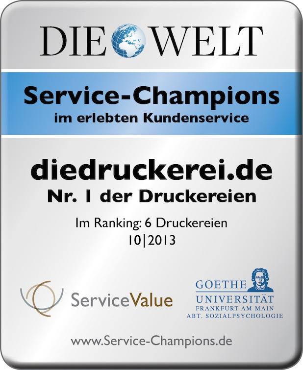 Photo of diedruckerei.de ist Service-Champion 2013