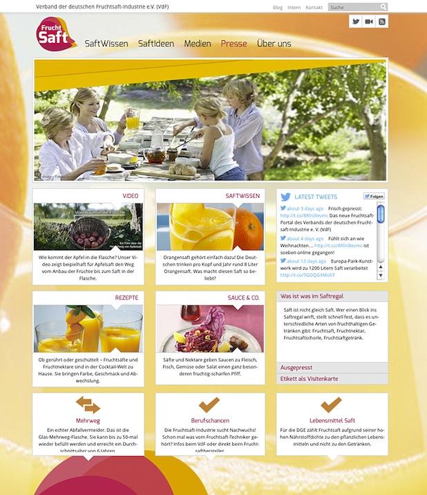 Bild von Verband der deutschen Fruchtsaft-Industrie startet neuen Webauftritt