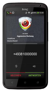 Bild von Tellows Android App in der aktuellen Vollversion
