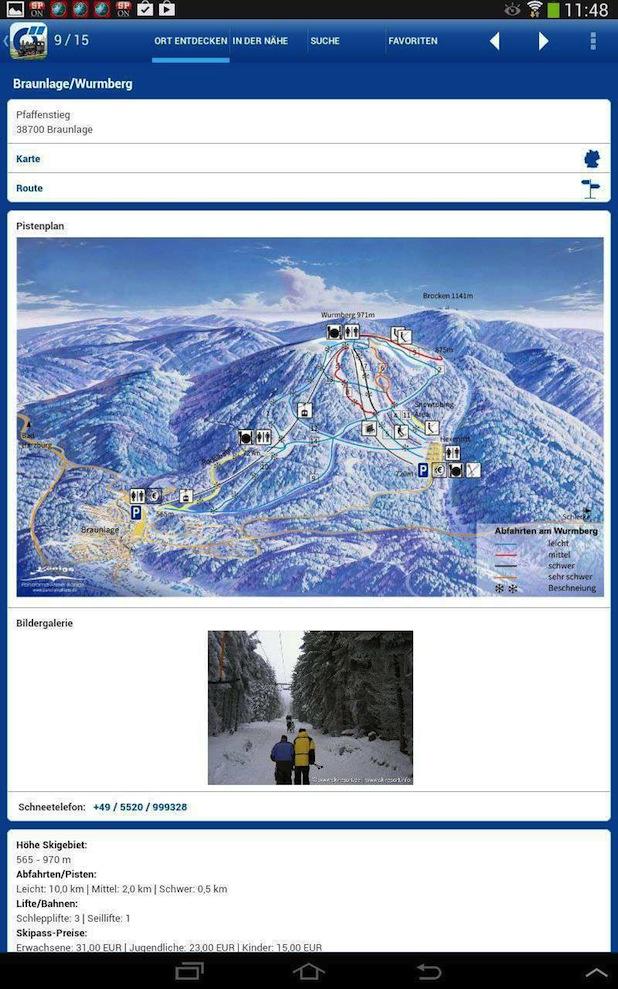 Bild von Ab auf die Piste mit der Harz-App!