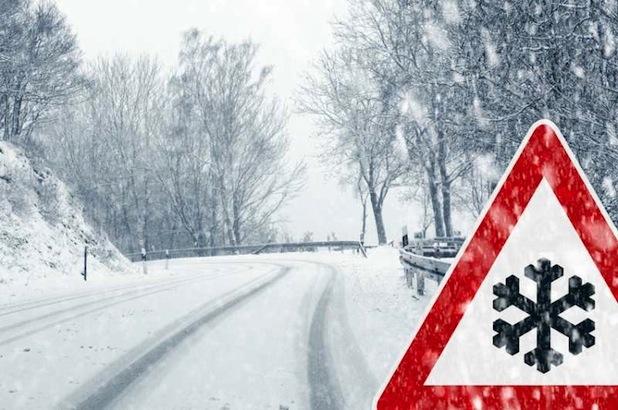 Bild von Autofahren im Winter