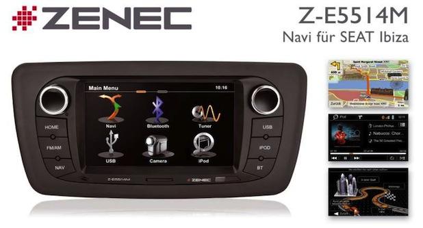 Photo of Zenec Z-E5514M: Nachrüst-Navi für Seat Ibiza