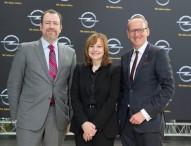 Neue GM CEO Mary Barra besucht Opel in Rüsselsheim