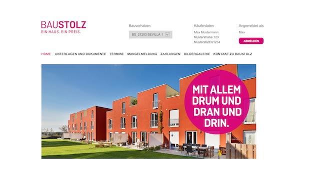 Bild von Baustolz stellt innovatives Kundenportal vor