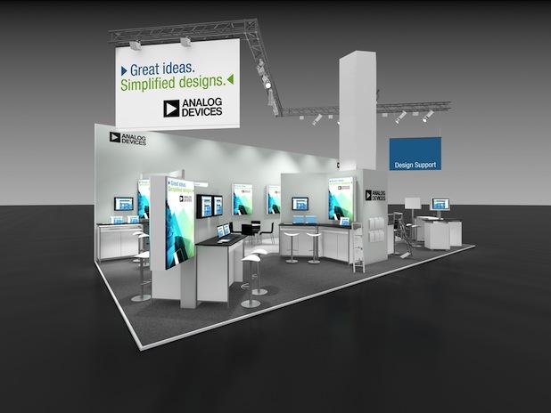 Bild von Analog Devices auf der Embedded World 2014