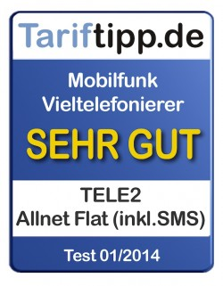 "Quellenangabe: ""obs/TELE2/Tariftipp.de"""