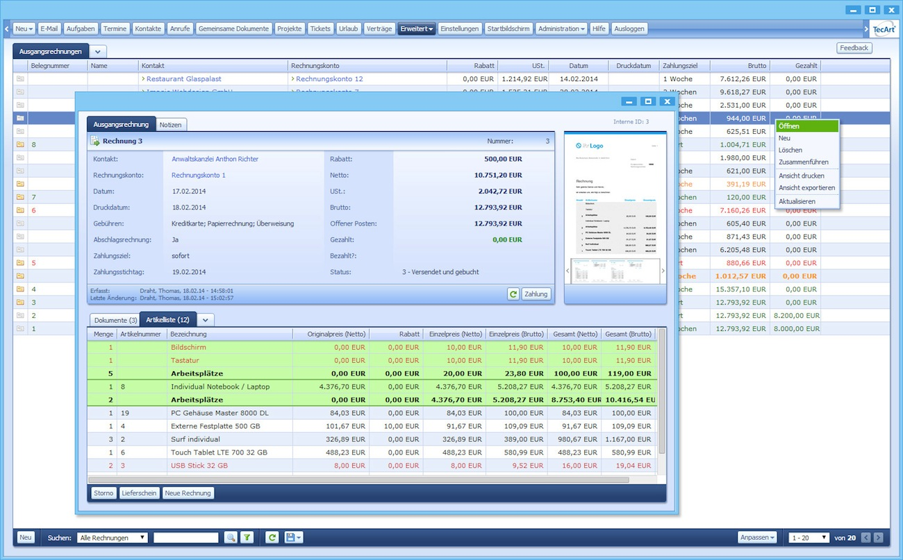 Photo of All-in-One Business Software von TecArt