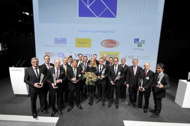 Photo of Die Gewinner der Daimler Supplier Awards 2013