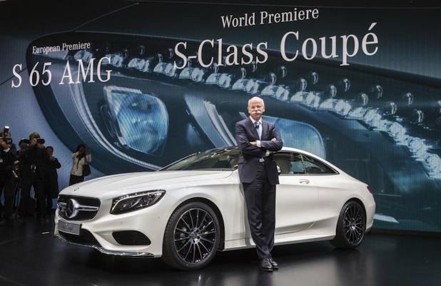 Quelle: Daimler AG , Foto: Mercedes-Benz auf dem Genfer Automobilsalon 2014 - Weltpremiere S-Klasse Coupe: Dr. Dieter Zetsche, Vorstandsvorsitzender der Daimler AG und Leiter Mercedes-Benz Cars, präsentiert das neue S-Klasse Coupé in Genf.
