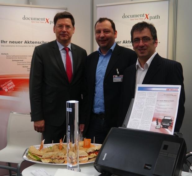Photo of Bagels für Minister Meyer auf der CeBIT