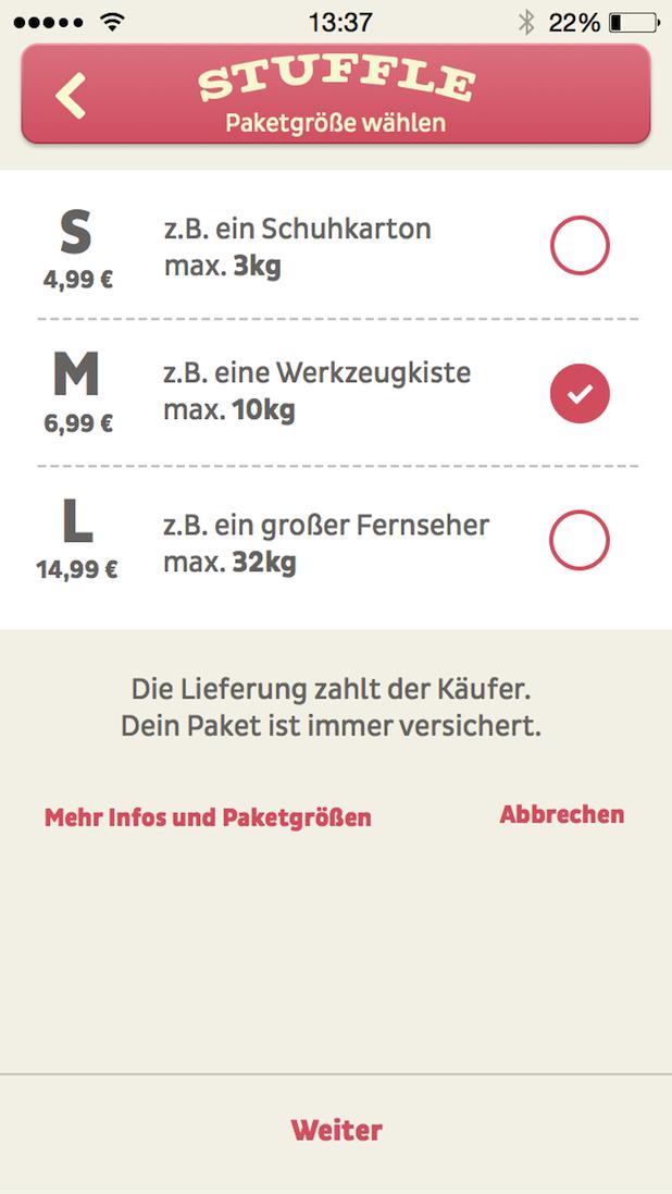 Bild von Liefer' das mal! Flohmarkt App Stuffle bietet ab sofort eine Logistiklösung für mobilen Privathandel.