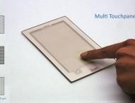 Elektronische Mikro- und Leiterbahnen für Touch Screens im Einschritt-Verfahren