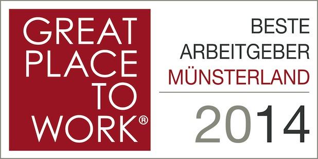 Bild von Beste Arbeitgeber im Münsterland 2014 ausgezeichnet