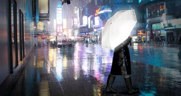 Bild von Der Hi-Reflective Umbrella bringt Licht in eine verregnete Nacht