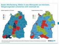 Höchste Mietpreise im Ballungsraum Stuttgart