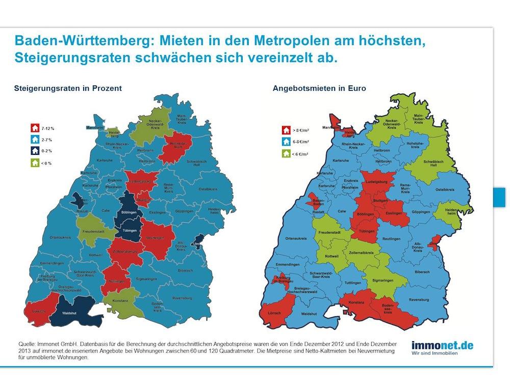 Bild von Höchste Mietpreise im Ballungsraum Stuttgart