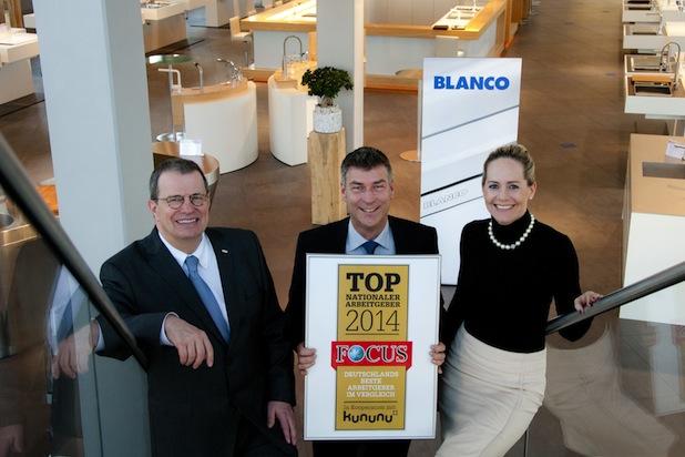 Photo of BLANCO zählt zu den 'Top Arbeitgebern 2014'