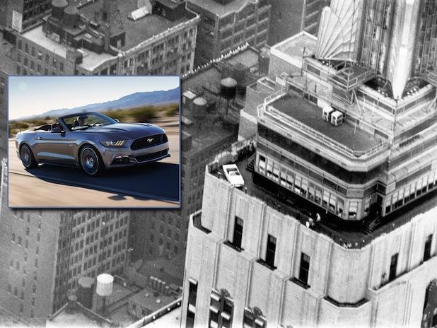 Photo of 50 Jahre Ford Mustang: Spektakuläre Geburtstagsfeier in 320 Metern Höhe