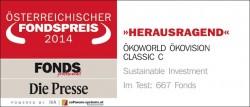 "Quellenangabe: ""obs/ÖKOWORLD AG/FONDS professionell 2014"""