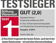 G Data InternetSecurity ist Testsieger bei Stiftung Warentest