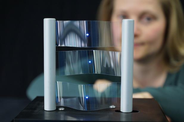 Bild von Entwickler präsentieren leitfähige Beschichtungen für biegsame Touchscreens