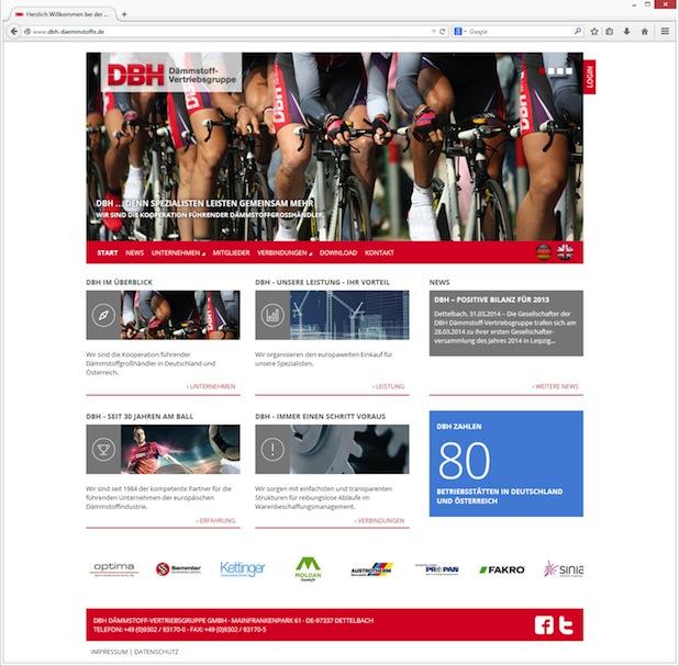 Bild von Neuer web-Auftritt der DBH Dämmstoff-Vertriebsgruppe