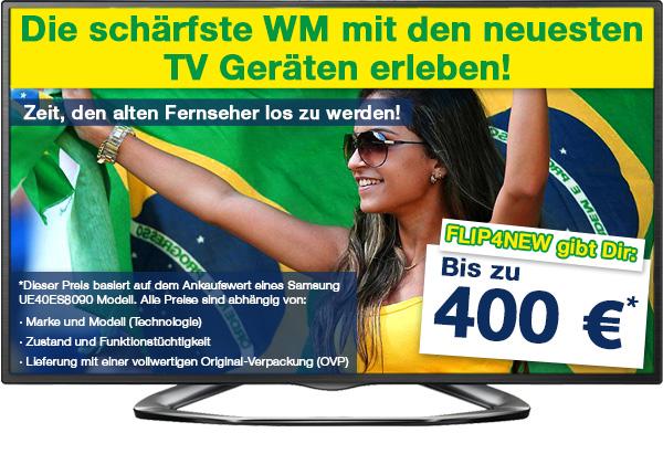 Bild von Zur WM 2014 kauft FLIP4NEW verstärkt TV-Geräte an