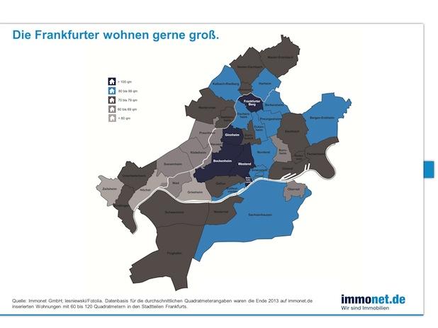 Bild von Die Frankfurter wohnen geräumig und teuer!