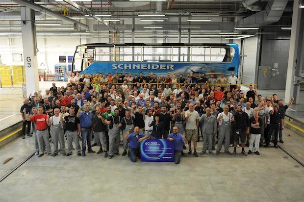Photo of 60.000ster Omnibus im EvoBus Werk Neu-Ulm lackiert