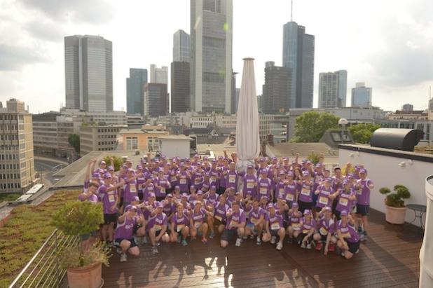 Das Team der Helvetia beim JP Morgan Lauf.
