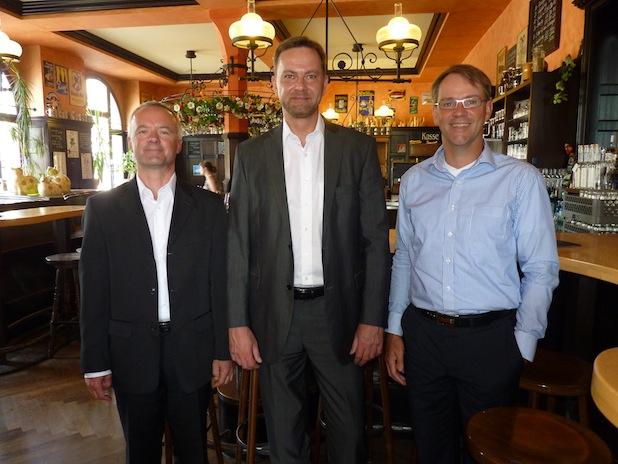 v.l.n.r. Robert Mattioni, Lars Fiehler und Marco Bensen Bildquelle: MEDIENKONTOR