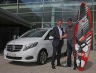 Windsurfprofi Bernd Flessner fährt neue Mercedes-Benz V-Klasse