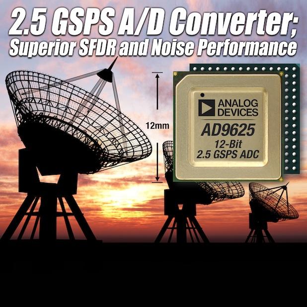 Bild von Analog Devices präsentiert 2,5-GSPS-A/D-Wandler