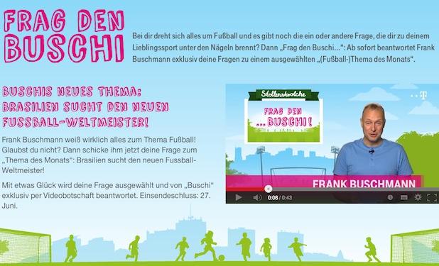 """Bild von """"Frag den Buschi!"""": Telekom launcht neues Kinder-Wissensformat für Sport"""