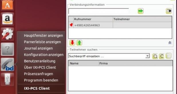 Foto: © Die serVonic CTI-Software IXI-PCS ermöglicht es den Linux Usern, Funktionen für Computer Telefonie am Desktop zu nutzen. Screenshot: serVonic GmbH
