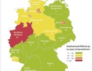 Firmeninsolvenzen sinken in Deutschland um 6,3 Prozent