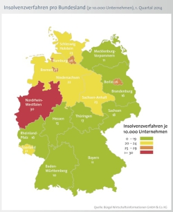 """Quellenangabe: """"obs/Bürgel Wirtschaftsinformationen"""""""