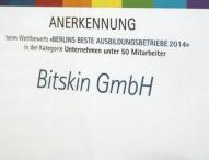 IHK ernennt Bitskin zu einem der besten Berliner Ausbildungsbetriebe 2014