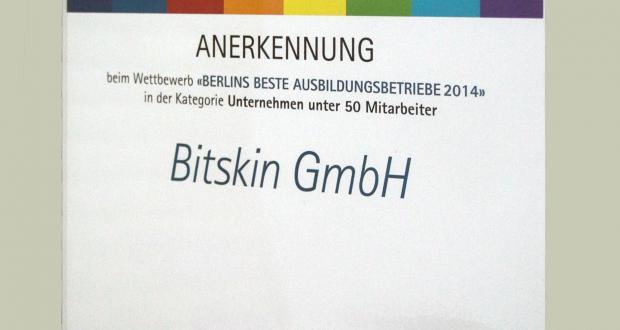 Bild von IHK ernennt Bitskin zu einem der besten Berliner Ausbildungsbetriebe 2014