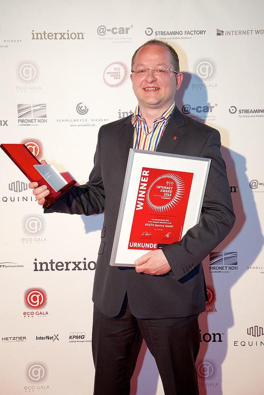 Bild von AGETO gewinnt eco Internet Award 2014