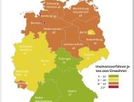 Weniger Privatinsolvenzen in Deutschland