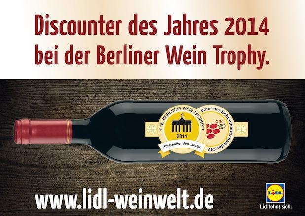 Bild von Hohe Qualität der Lidl-Weine bestätigt